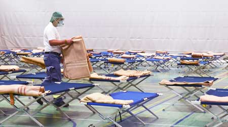 temporary hospital