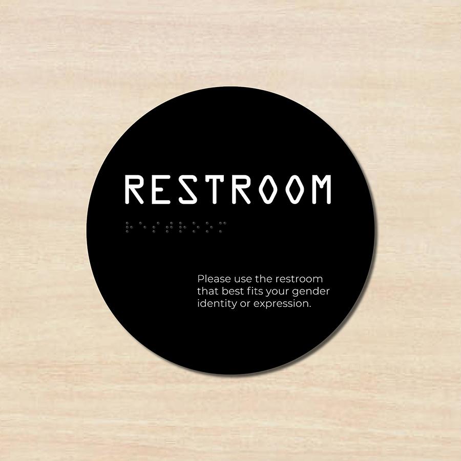 Gender-neutral restroom signage
