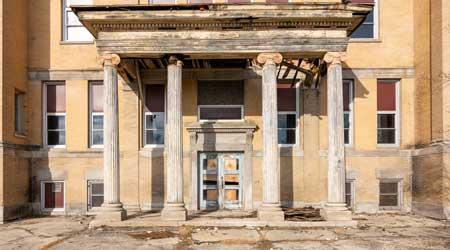 crumbling school
