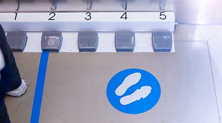Elevator foot buttons