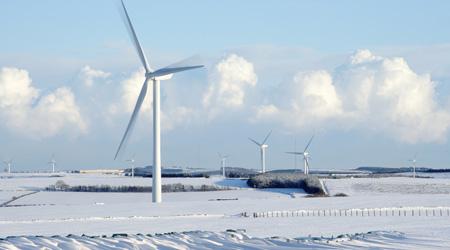 wind turbine winter