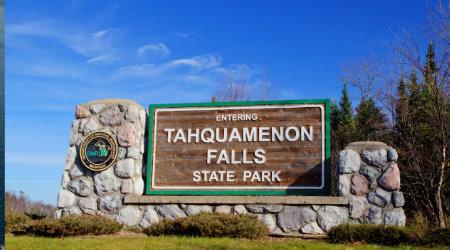 Entrance to Tahquamenon Falls State Park