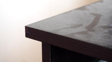dusty desk